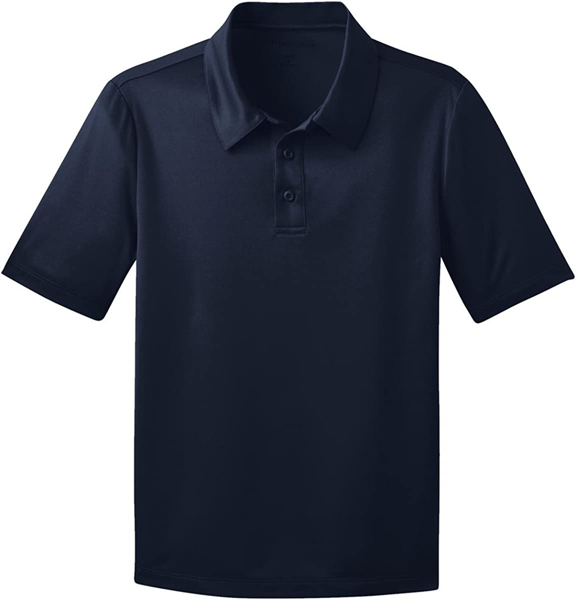 Port Authority Youth Silk Touch Performance Polo-Navy