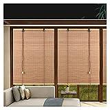 Persianas de rodillos de bambú, rodillo de persianas de la ventana, tonos de protección solar, cortina de filtrado ligero, persianas de privacidad interior, aislamiento térmico / transpirable, accesor