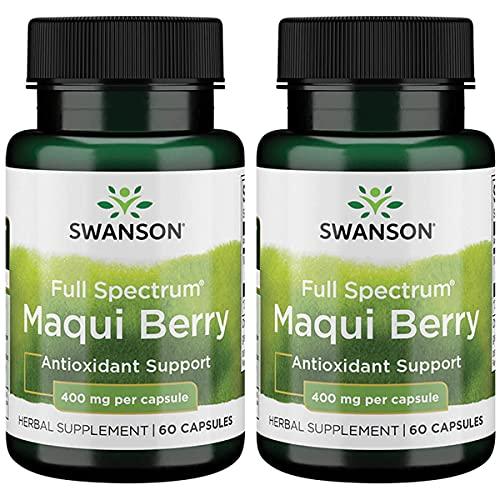 Swanson Full Spectrum Maqui Berry 400 mg 60 Caps 2 Pack