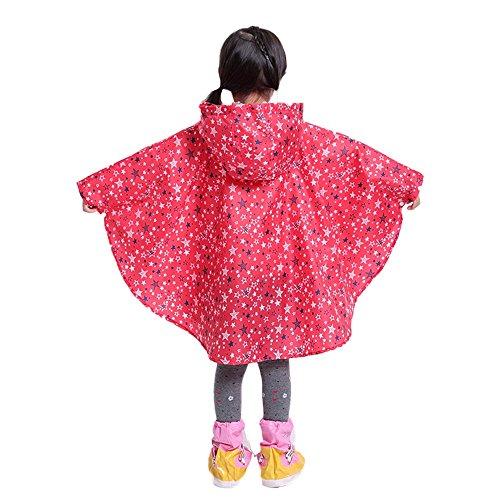 Chyuanhua regenjas voor kinderen, rood, model waterdicht, voor kinderen, outdoor, schattige studenten en kinderen, poncho Lacrima, lichtecht en comfortabel voor kinderen, bedrukt regencoat