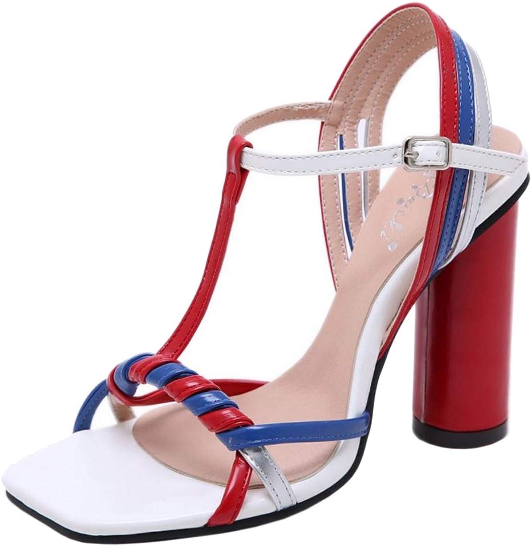 Melady Women Fashion Plait Sandals Evening Party shoes Gladiator shoes Slingback Heels Black Size 35