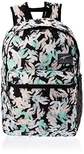 Puma Academy Backpack Rucksack, Erwachsene, Unisex, Black-Leaf AOP (schwarz), Einheitsgröße