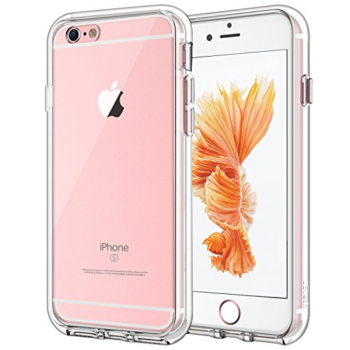 JETech Funda Compatible Apple iPhone 6s y iPhone 6, Carcasa Anti-Choques y Anti-Arañazos, Transparente