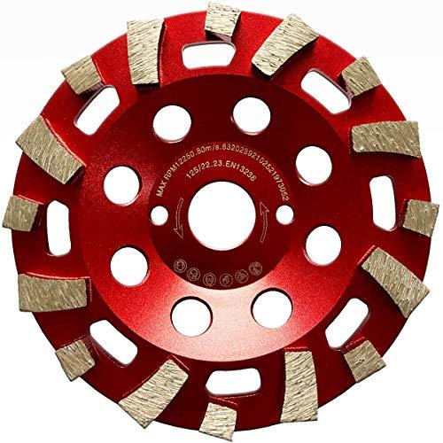 LXDIAMOND Disco de lija de diamante de 125 mm para materiales de construcción duros, hormigón, epoxi y azulejos, de calidad profesional, 125 mm