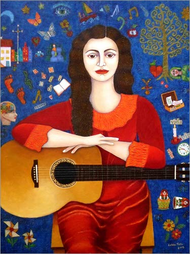Posterlounge Cuadro de metacrilato 60 x 80 cm: Violeta Parra - Thanks to Life de Madalena Lobao-Tello