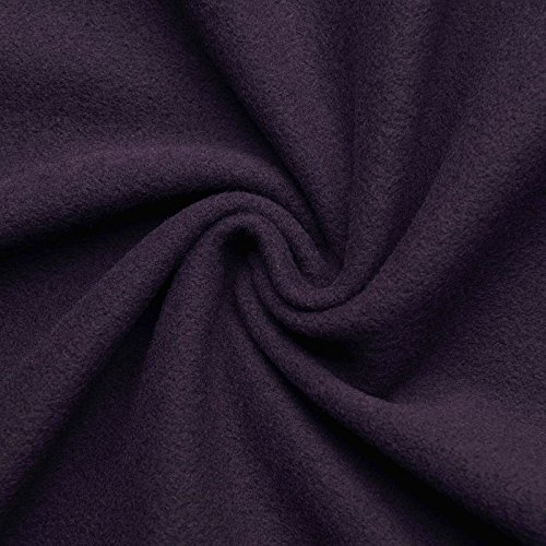 (16,99€/m) HANNAH - Wollstoff Stoffe Wolle Kaschmir Mantel Mittelalter Vorhang Decke Umhang Larp Meterware - 10 Farben (lila)