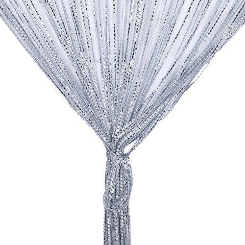 Cortina de cadenas, cortina de perlas de cristal, hermosa cortina vintage para ventana o puerta
