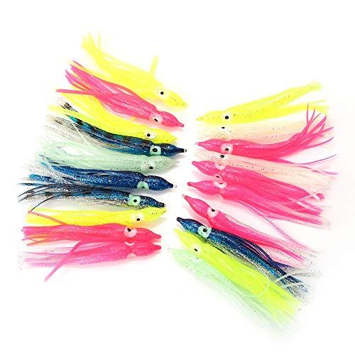 Jadeshay Leurres de pêche au calmar - 20pcs appâts de...