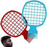 2 Pcs Afro Twist Comb Set Curl Weave Dreadlocks Natural Style Hair Brush Tool Suitable For Men Women Barber Better Than Sponge Easy to Clean(Blue&Red)