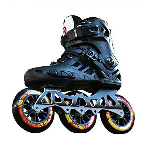 sljjlhx Sljj Patines En Línea para Hombres Y Mujeres, Zapatos De Patinaje sobre Ruedas De 110 Mm X 3 Ruedas, Patines para Adultos Y Niños, Patines para Exteriores