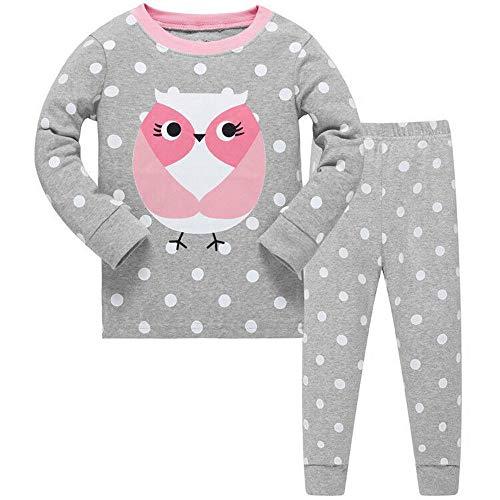 Winzero - Pijama - para niña Gris Gris 3-4 Años