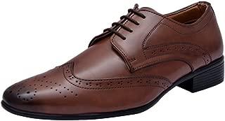 HiREL'S Men Brown Derby Brogue Formal Shoes