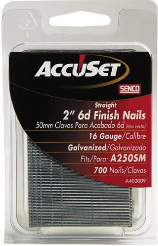 Courier shipping free AccuSet Rare A402009 2-Inch 16 Straight Finish Gauge Nail