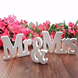 Moresave Mr & Mrs Holzbuchstaben Hochzeit Dekoration