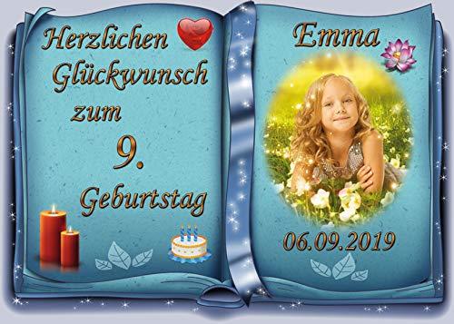 Tortenaufleger Fototorte Tortenbild zum Geburtstag Buchform DIN A5 G26 (Zuckerpapier)