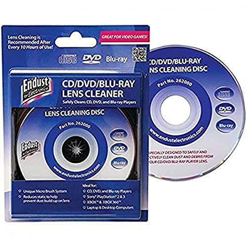 Endust Para eletrônicos, limpador de lente de CD/DVD, Blu-ray, ótimo para computadores de mesa e leitores (262000)