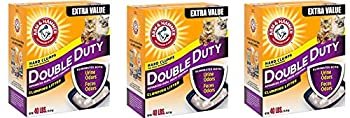 Arm & Hammer iQZCtB Double Duty Clumping Litter 40 Pounds  Pack of 3