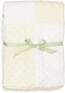 Spasilk Baby-Girls Newborn Minky Raised Dot Blanket with Satin Trim