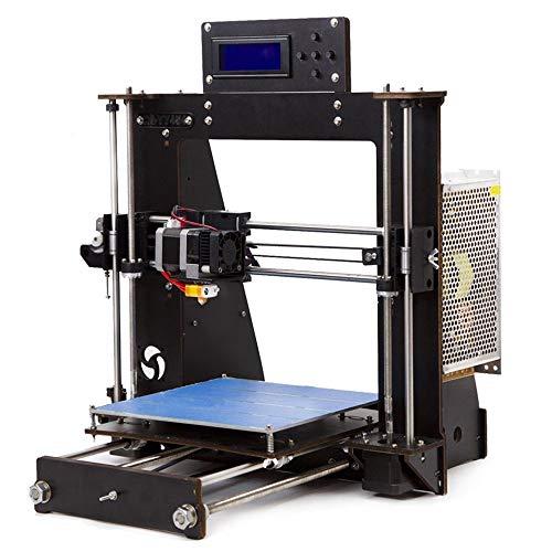 TIGTAK Inteligencia de Escritorio DIY Impresoras 3D Kits, de Madera DIY Prusa i3 kit de impresora de escritorio 3D, Alta Precisión DIY 3D Impresoras 200x200x180mm Tamaño de impresión
