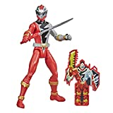 Power Rangers Dino Fury Red Ranger 6-Inch Action Figure Toy Inspired by TV Show with Dino Fury Key and Dino-Themed Accessory for Ages 4 and Up