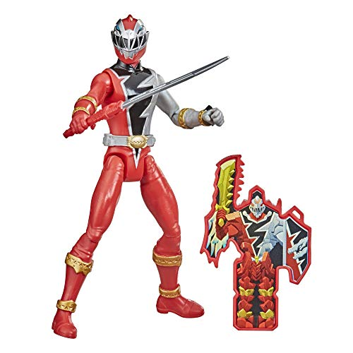 Power Rangers Dino Fury Red Ranger 6-Inch Action Figure Toy Inspired by TV Show with Dino Fury Key...