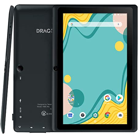 「進化版」Dragon Touch タブレット 7インチ Android9.0 RAM2GB/ROM16GB IPSディスプレイ WiFiモデル デュアルカメラ Kidoz対応 子供にも適当 軽量 ゲーム用PCタブレット 贈り物 日本語説明書 Y88X PRO