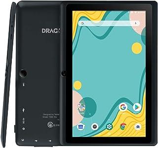 「進化版」Dragon Touch タブレット 7インチ Android9.0 RAM2GB/ROM16GB IPSディスプレイ WiFiモデル デュアルカメラ Kidoz対応 子供にも適当 軽量 ゲーム用PCタブレット 贈り物 日本語説明書 ...