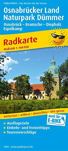 Osnabrücker Land - Naturpark Dümmer, Osnabrück - Bramsche - Diepholz - Espelkamp: Radkarte mit Ausflugszielen, Einkehr- & Freizeittipps, wetterfest, ... GPS-genau. 1:100000 (Radkarte: RK)