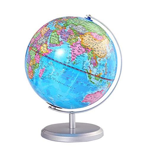 Jopjdpdsf Globus Beleuchtet,20 cm Mit Licht Hd Globus Lehre Liefert Dekoration Lampe PVC Chinesischen Und Englischen Student Globus