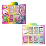 Ex=pressions Girl 7 Day Press-On Nail Set, Brights & Pastels, 7 Sets of Colorful Press-On Nails