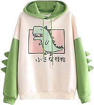 RUNYN Hoodie Damen Sweatshirt mit Kapuze Japanischen Stil Ka