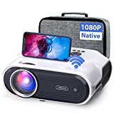 VIDOKA Native 1080P Wifi Projector, 8000L Full HD Video Projector for Home & Outdoor Use, 300' Display & Zoom Movie Projector with Hifi Stereo, Sleep Timer, Compatible with Phone, PC/TV Stick/PS4