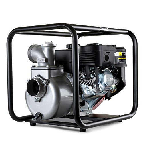 Greencut GWP80 waterpomp met 4-takt motor, 208 cc en 7 pk, max. Debiet 30000l/h, 7 m zuigvermogen. 30.000 l/h Blanco Y Gris