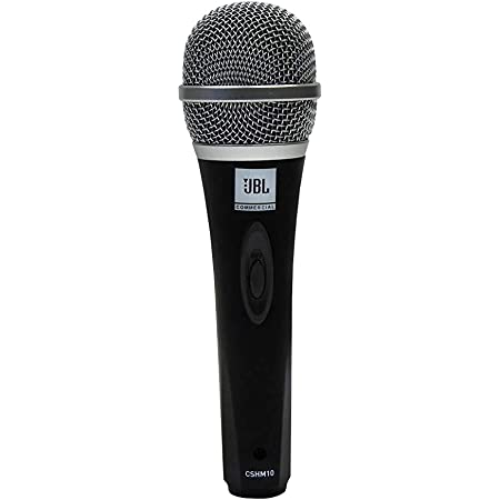 (Renewed) JBL Commercial CSHM10 Handheld dynamic microphone with on/off switch (Cable not included)
