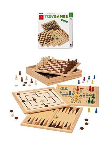 Dal Negro Top Games 30 Dama/Scacchi Tria Gioco da Tavolo Giocattolo 872, Multicolore, 822028