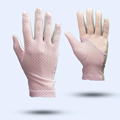 guanti uv Uoyov Estate Nuovo UV di Pesca di Pesca di Sun Guanti for Uomo e Donna Sottile Sezione Equitazione Ultrasottile Ghiaccio Seta Sport Esterni di Guida Primavera e in Autunno Stretch Touch Screen Gloves
