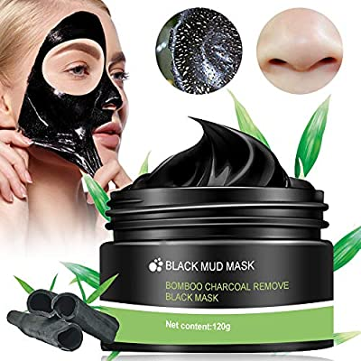 Blackhead Remover Face Mask,Peel Off Mask,Charcoal Face Mask,Purifying Black Face Mask with Activated Carbon,Deep Facial Cleansing Black Mask For The Nose, Cheeks And Chin,120g