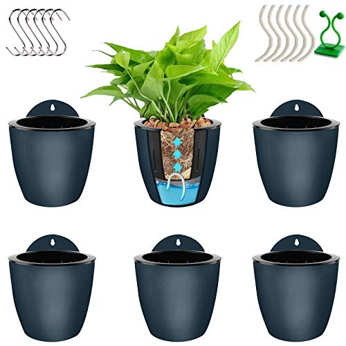 Self Watering Hanging Planters,Lazy Flower Pots Water Hanging Plants Pot,Plant Flower Pot Wall...