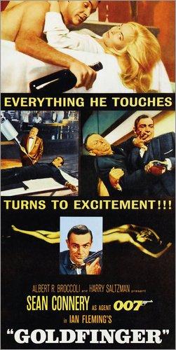 Stampa su Tela 50 x 100 cm: Goldfinger di Everett Collection - Poster Pronti, Foto su Telaio, Foto su Vera Tela, Stampa su Tela