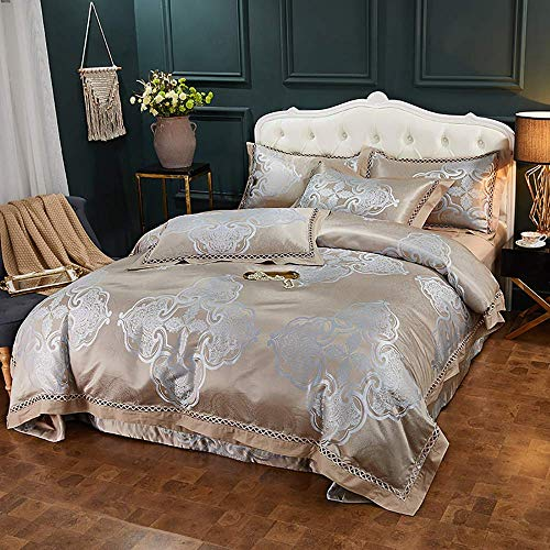 Conjunto de tasas de edredón Conjunto de ropa de cama King Tamaño púrpura 4 piezas Set de hojas de cama de 4 piezas Cubiertas de edredón Juego de cama King Twin Double Double King Size Cama Cubiertas