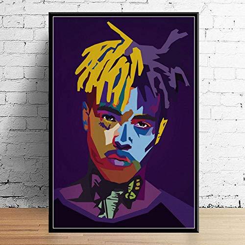 G157 Art Decor Juice Wrld J Cole Post Malone Mac Miller Travis Scoot Rapper Star Hip Hop Lienzo decorativo de seda, Imagen 1, 50x70 cm no frame
