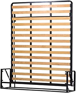 Wallbedking Cama De Matrimonio Abatible Vertical 160 x 200 cm (Cama Doble Estilo Murphy Bed, Cama Plegable, sofá Cama, Mueble Cama Oculta).