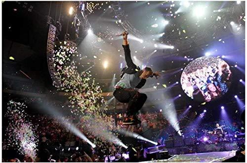 Hesuz Leinwand Bilder 50x70cm Kein Rahmen Coldplay -Alternative Rockmusik Star Art Poster Poster und Drucke Home Decor