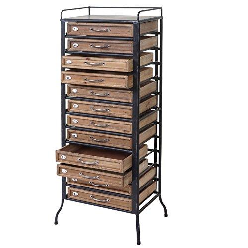 Mendler Apotheker-Schrank HWC-A43, Tanne Holz massiv Vintage Shabby-Look 129x55x38cm
