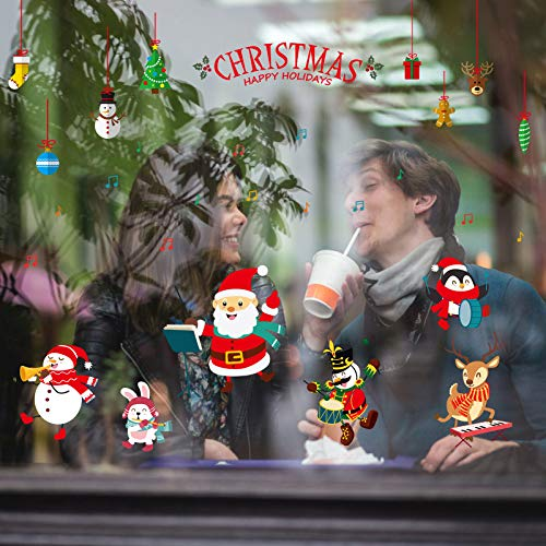 2019 Kerst Concert Shop Raam Glazen Deuren en Ramen Woonkamer Slaapkamer Decoratieve Muurstickers