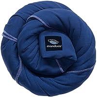 manduca SLING Mochila Bebe/Fular Portabebes Elastico con Certificado GOTS, Calidad Ecológica, Algodón Orgánico, Para Bebes Pequeños 3,5-15kg (royal/azul, 5,10m x 0,60m)