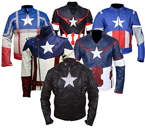 Dunhill Leather The First Avenger Movie Stars Cosplay Disfraz Chaqueta de Motocicleta de cuero-4xl
