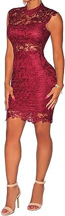 Vestidos De Mujer Sexys Pegados Al Cuerpo Color Vino Ropa De Moda para Fiesta y Noche