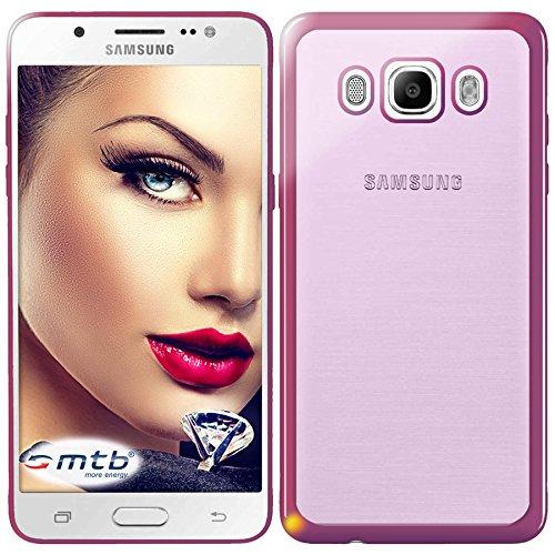 mtb more energy® Funda Style para Samsung Galaxy J5 2016 (SM-J510, 5.2'') - Rosa metálico - Flexible - Gel TPU Silicona Carcasa Suave Cascara