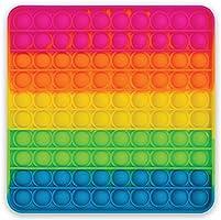 Better Office Products - Juguete de silicona extra grande, 100 burbujas, juguete sensorial, 20,32 x 20,32 cm cuadrado...